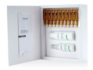 Arosha - Kit limpiador Exfoliante Facial